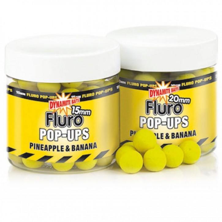 Dynamite Baits Fluro Pop Ups Pineapple and Banana - 15 mm