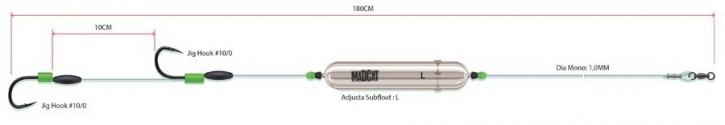 "Madcat Adjusta Profi River Rig ""Worm & Squid"""