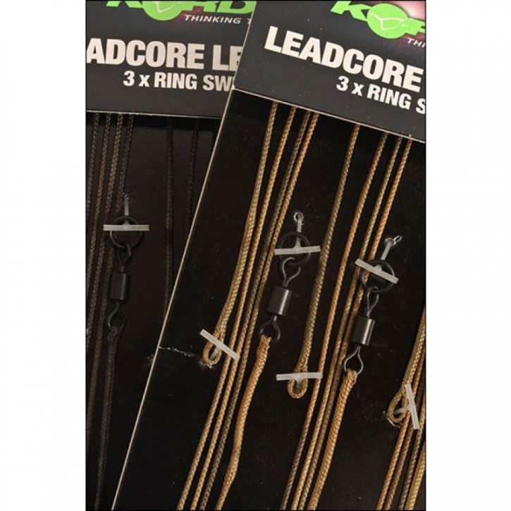 Korda Leadcore Leader Ring Swivel - Gravel
