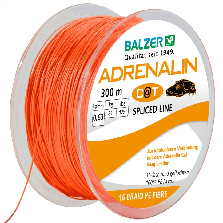 Balzer Adrenalin Cat 16-fach geflochtene Schnur 300m 0,63mm 81kg orange