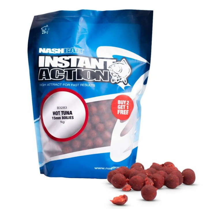 Nash Instant Action Hot Tuna Boilies 1 kg 20 mm