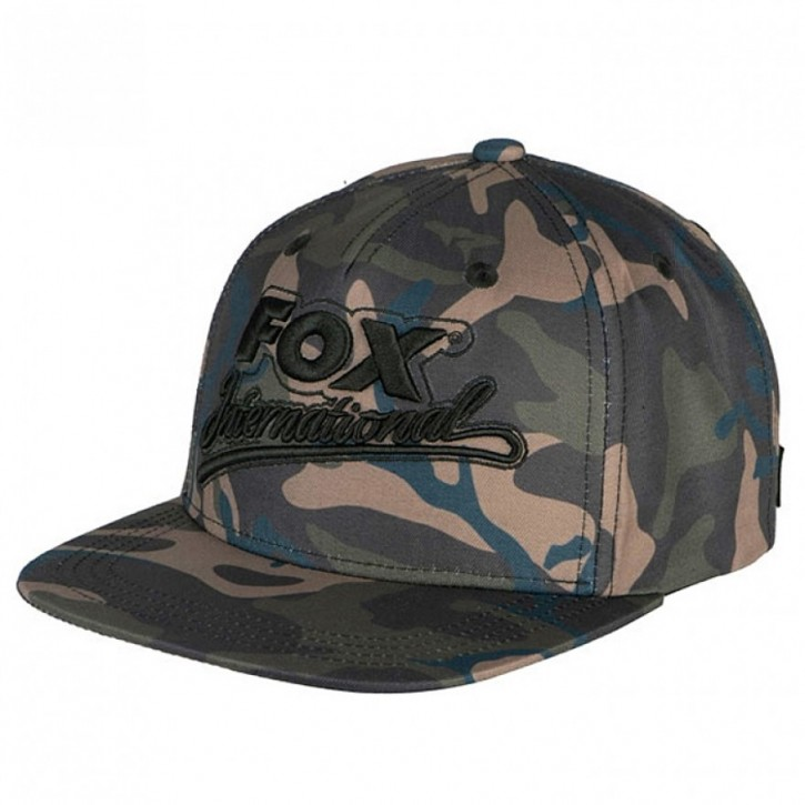 Fox - Camo Flat Peak College Snapback