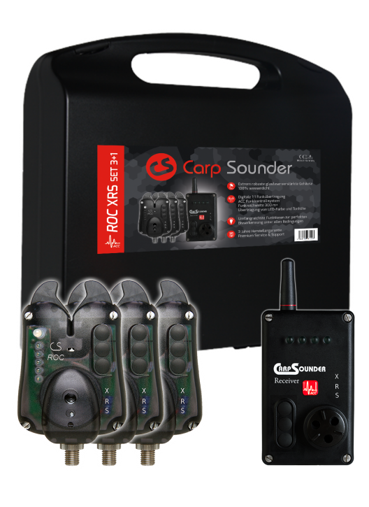 Carp Sounder ROC XRS NEON BLACK ACC 3+1 Set
