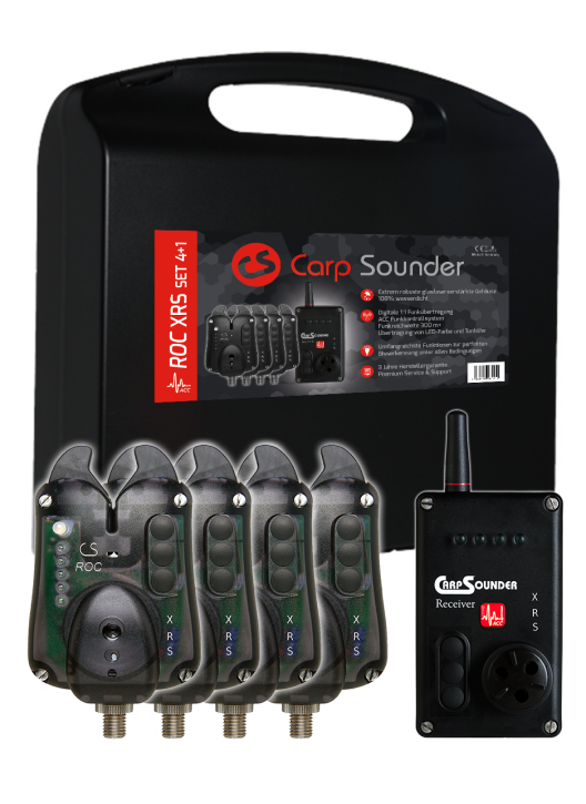 Carp Sounder ROC XRS NEON BLACK ACC 4+1 Set