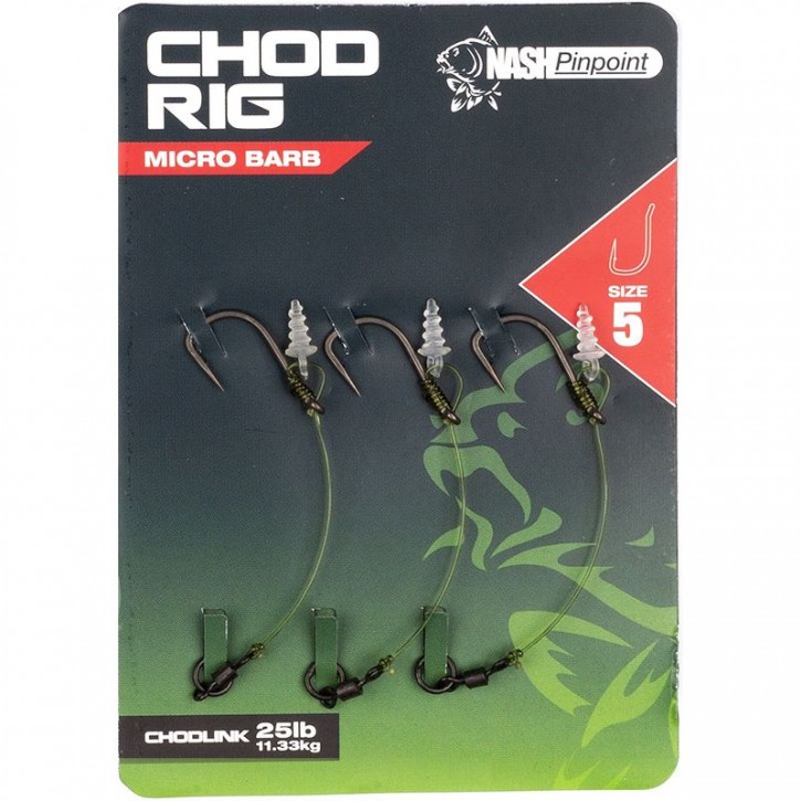 Nash Chod Rig Micro Barbed Size 4