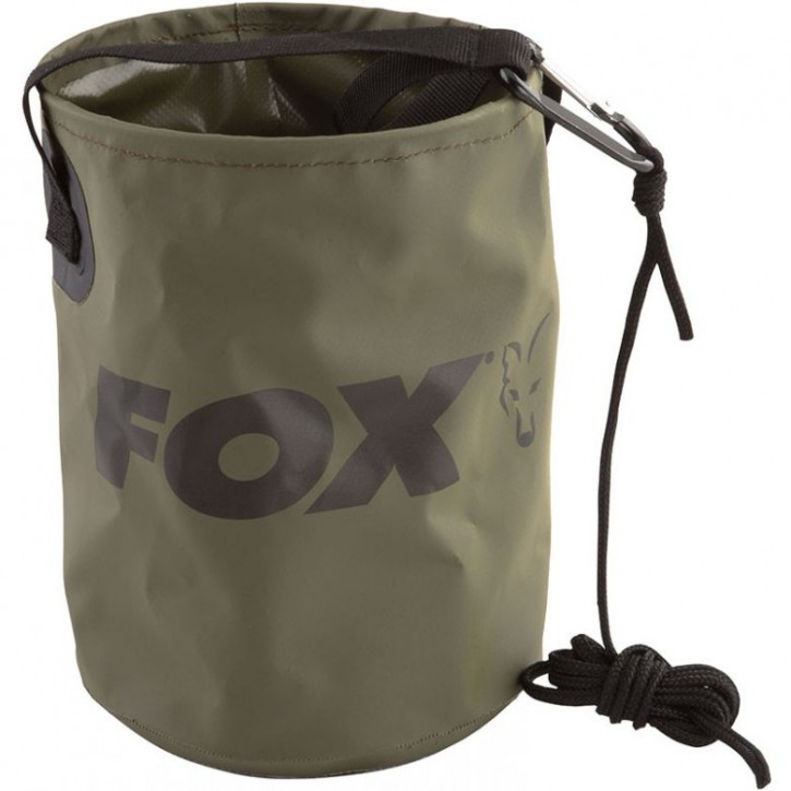 Fox Collapsible Water Bucket + Rope & Clip