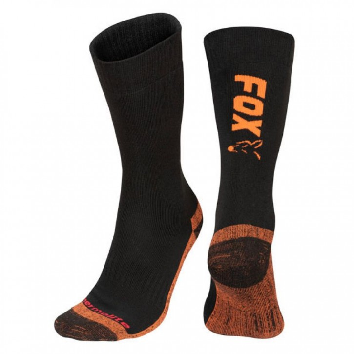 FOX Black/Orange Thermolite Long Sock 44-47