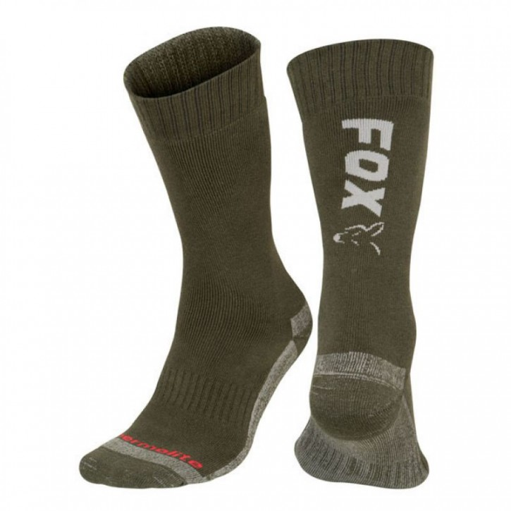 FOX Green/Silver Thermolite Long Sock 40-43