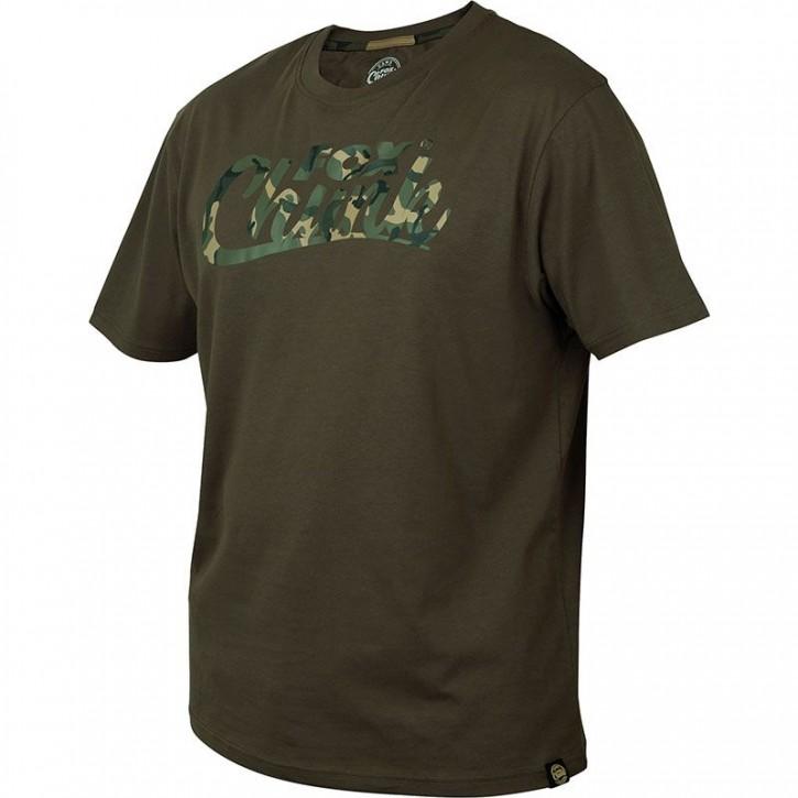 FOX Chunk Khaki/Camo Print T Shirt L