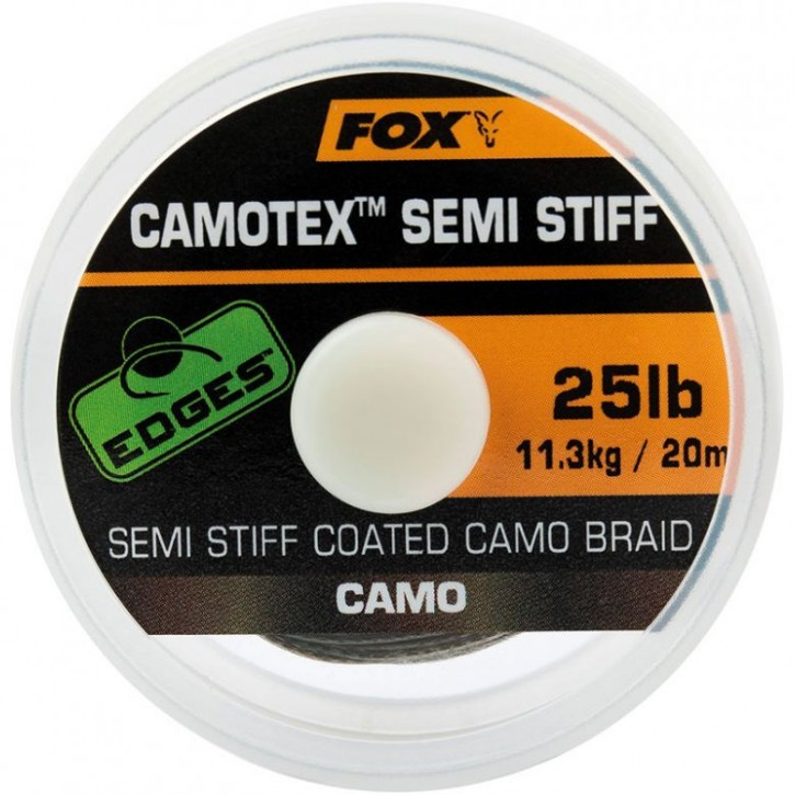 Fox Edges Camotex Semi Stiff Coated Camo Braid 20 m 25 lb
