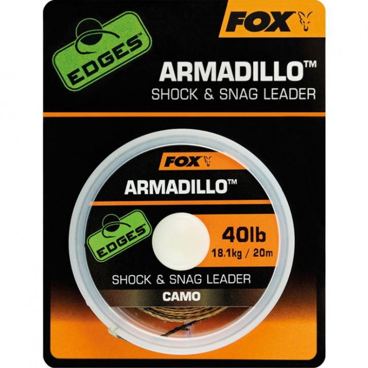 Fox Edges Armadillo Camo Shock & Snag Leader 20 m 40 lb