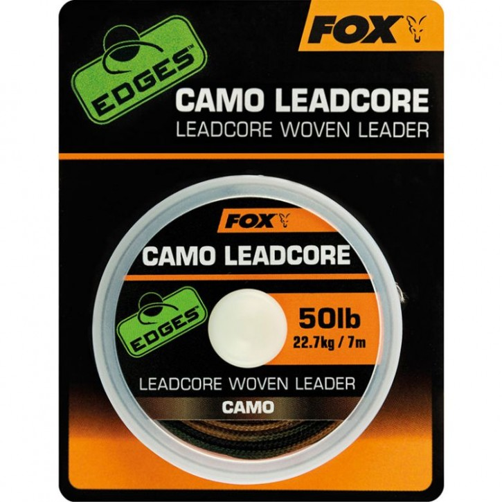 FOX Edges Camo Leadcore Woven Leader 50 lb 7 m