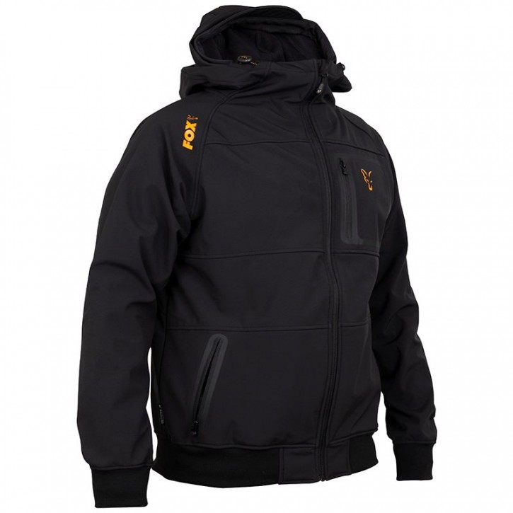 FOX Collection Black/Orange Shell Hoodie - XL