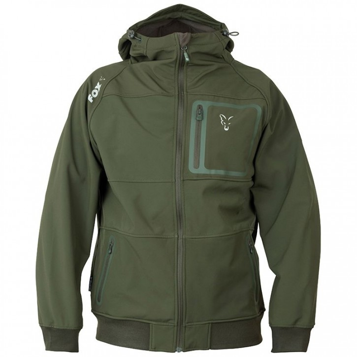 FOX Collection Green/Silver Shell Hoodie - S