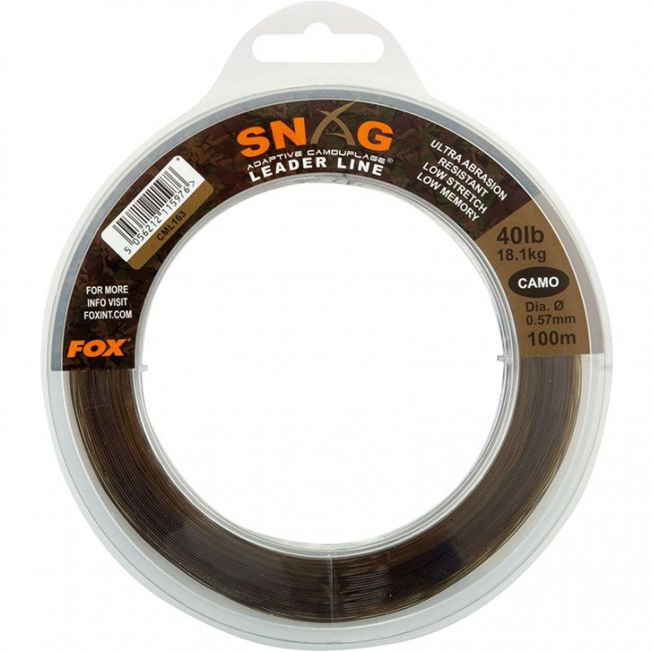 FOX Snag Leader Camo 100 m 40 lb 18,1 kg 0,57 mm