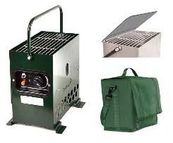 Gazcamp Heatbox 2000 Grün Zeltheizung 50mbar - Komplettset