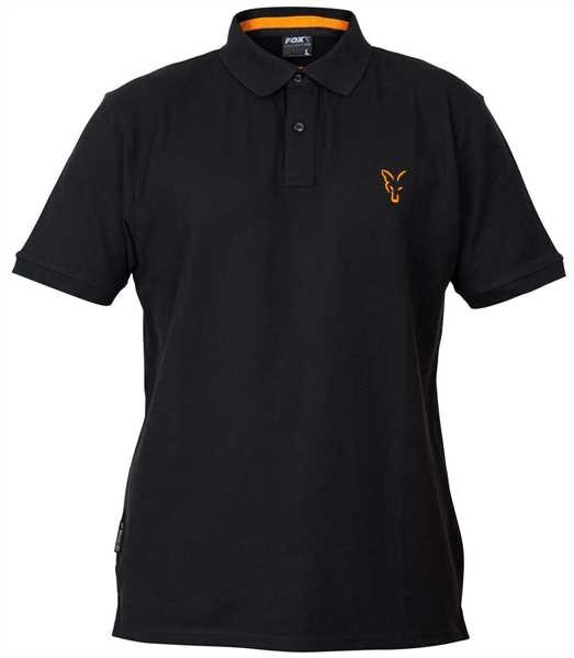 Fox Collection Orange & Black Polo Shirt - S