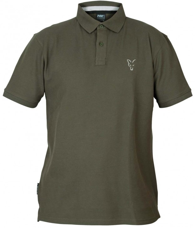 FOX Collection Green/Silver Polo Shirt - L