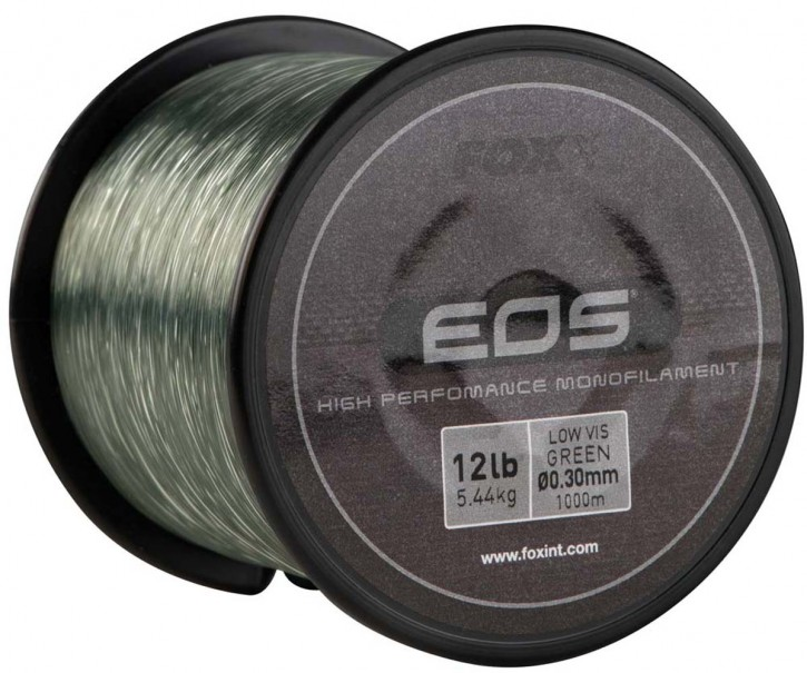 Fox EOS Mono Carp Line 20lb 9,07kg 0,38mm 1000m Fox
