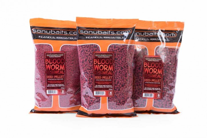 Sonubaits Bloodworm Fishmeal Feed Pellet - 2mm