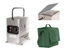 Gazcamp Heatbox 2000 Edelstahl Zeltheizung 50mbar - Komplettset