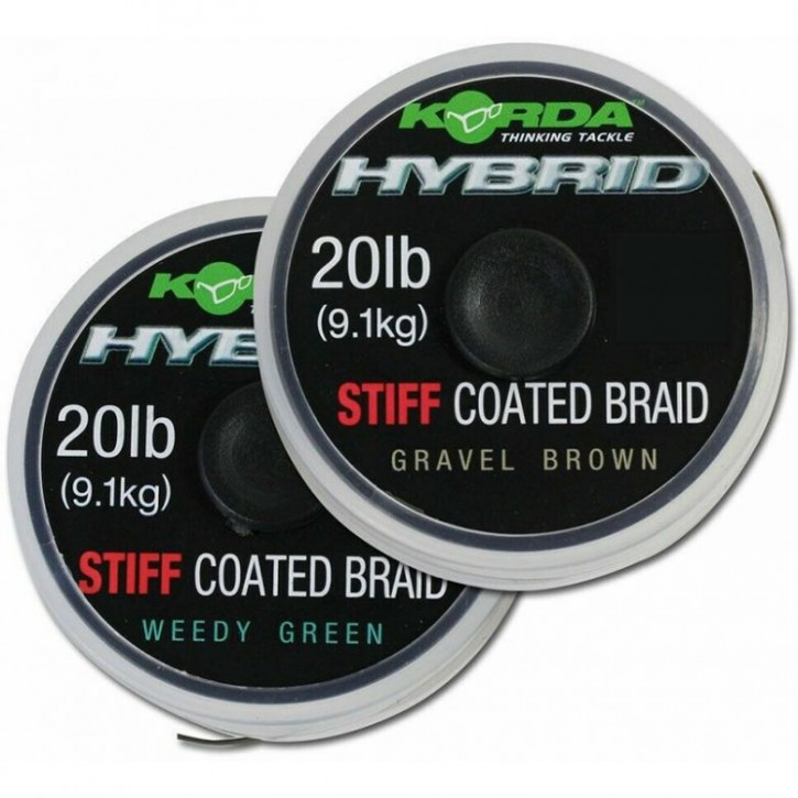 Korda Hybrid Stiff Coated Braid 15 m 20 lb Weedy Green