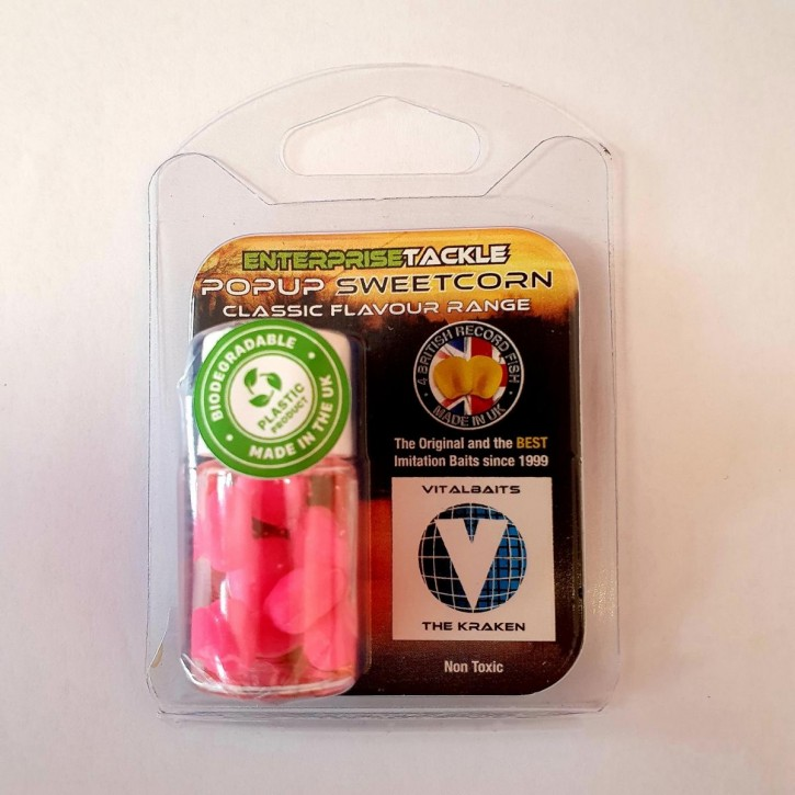 Enterprise Tackle PopUp Sweetcorn - The Kraken - Fluo Pink