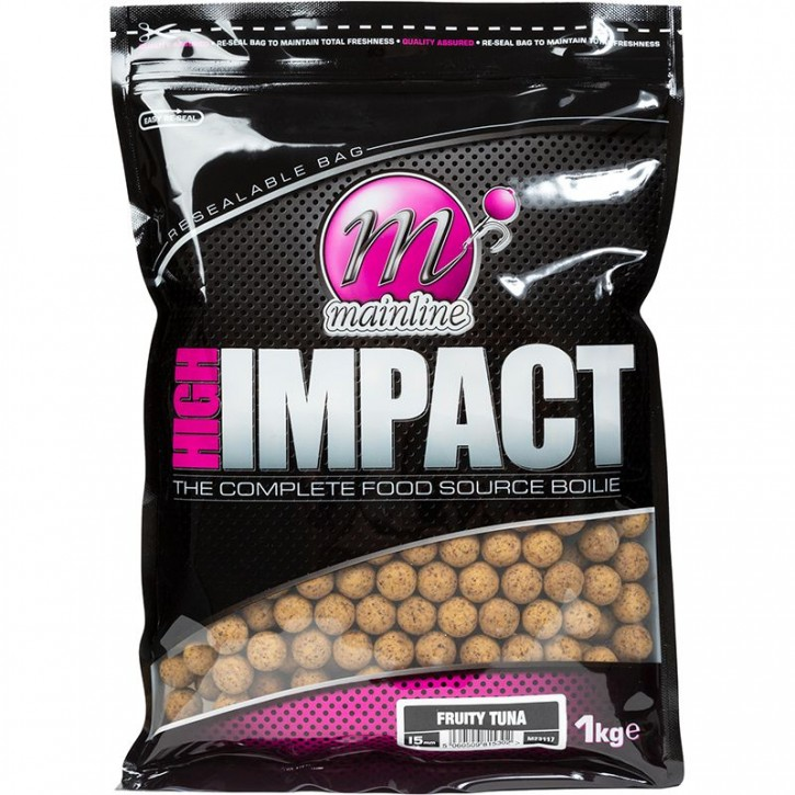 Mainline Baits High Impact Boilies 1 kg 15 mm Fruity Tuna