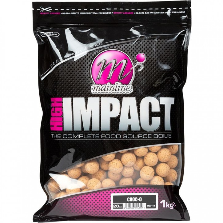 Mainline Baits High Impact Boilies 3 kg 20 mm Choc-O