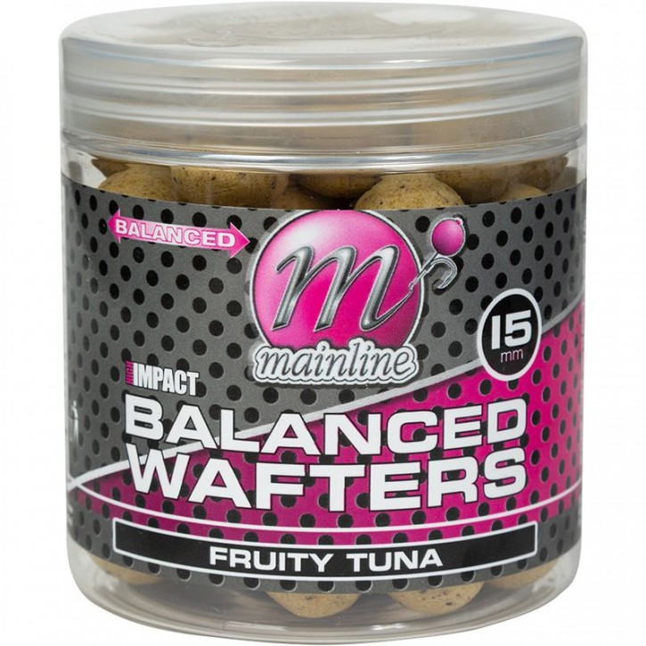 Mainline Baits High Impact Balanced Wafters 15 mm Fruity Tuna