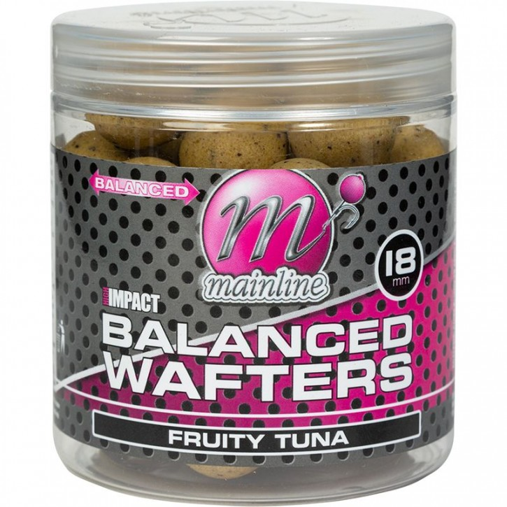 Mainline Baits High Impact Balanced Wafters 18 mm Fruity Tuna