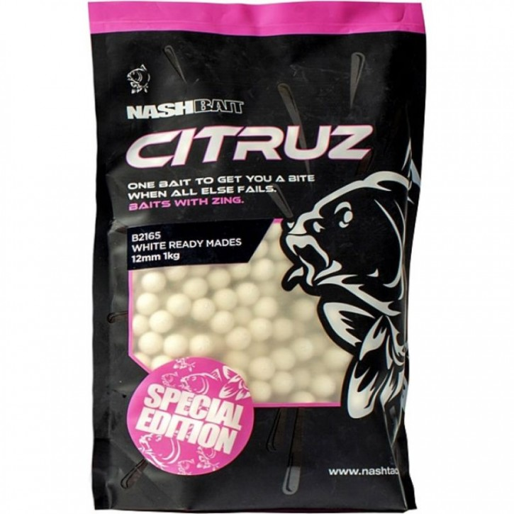 Nash Bait Citruz White Boilies 1 kg 18 mm