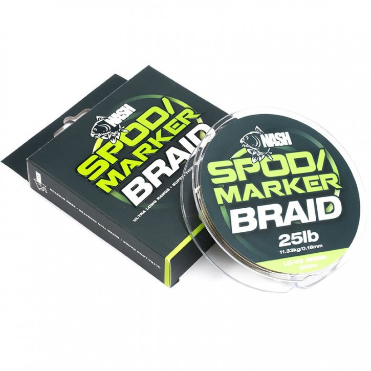 Nash Spod and Marker Braid Hi Viz Yellow 25 lb/0,18 mm 300 m 11,33 kg