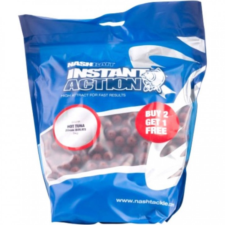 Nash Instant Action Hot Tuna Boilies 2,5 kg 20 mm
