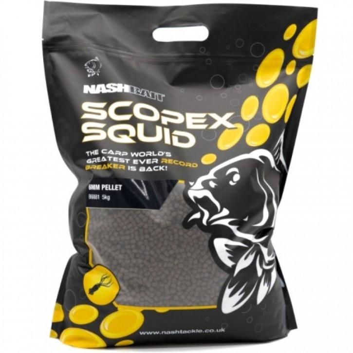 Nash Bait Scopex Squid Pellet 5kg - 6mm