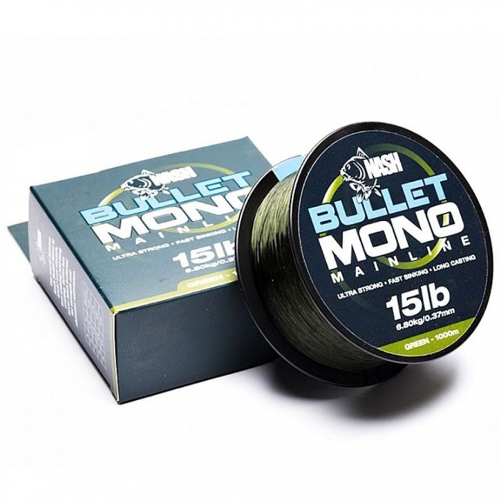 Nash Bullet Mono 1000 m 20 lb Green