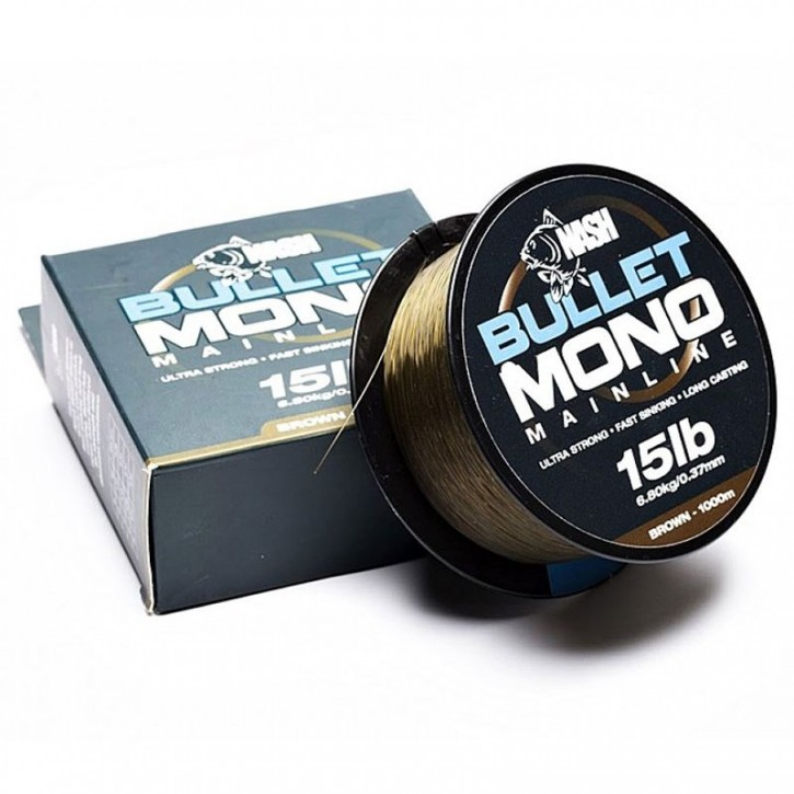 Nash Bullet Mono 1000 m 20 lb Brown