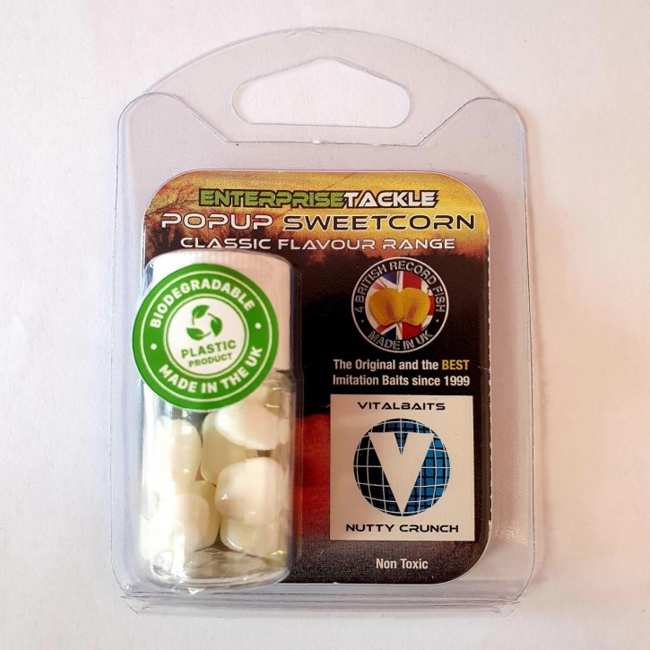 Enterprise Tackle PopUp Sweetcorn - Nutty Crunch - White