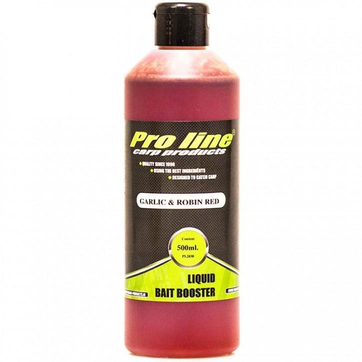 Pro Line Garlic & Robin Red Liquid Bait Booster - 500 ml