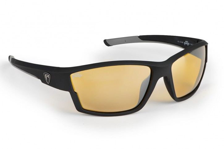 Fox Rage Matt Black, Amber lense Wrap Sunglasses