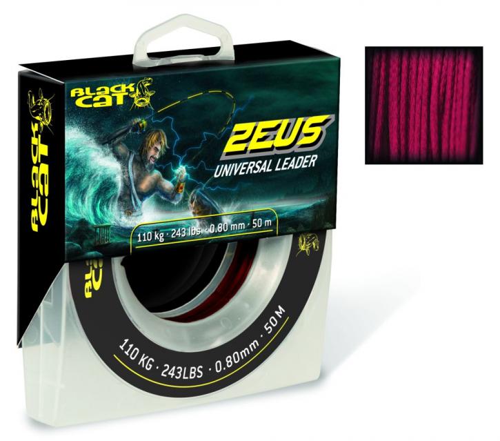 Black Cat Zeus Universal Leader Rot 0,80mm - 50m