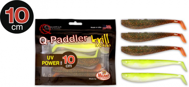 Quantum Q-Paddler 3x magic motoroil + 2x citrus shad - 10cm