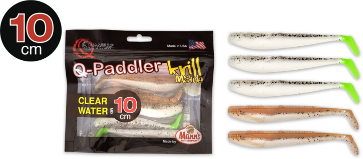 Quantum Q-Paddler 3x salt & pepper UV-tail + 2x sand goby - 10cm