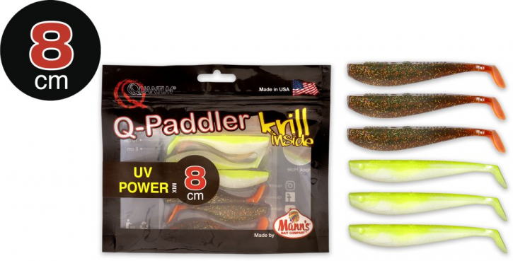 Quantum Q-Paddler 3x magic motoroil + 3x citrus shad - 8cm