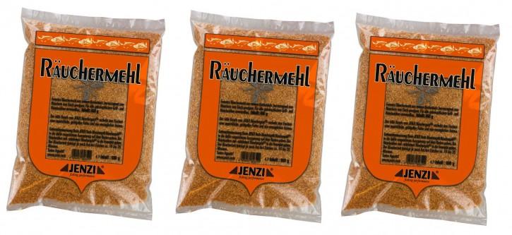 """JENZI Räuchermehl """"Räuchergold"""" Buche  3er Sparpack, 3x 600g"""