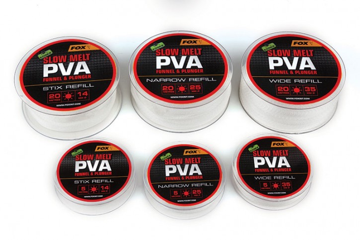 FOX Edges PVA Mesh Refill - 5 m Slow Melt 14 mm Stix
