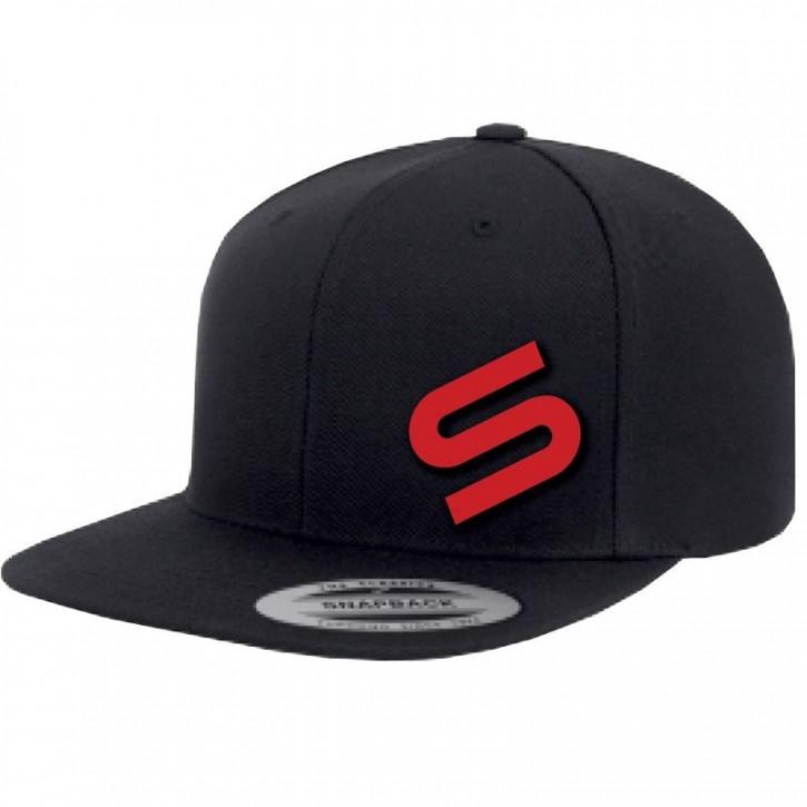 Sonik Black Snapback Icon Cap