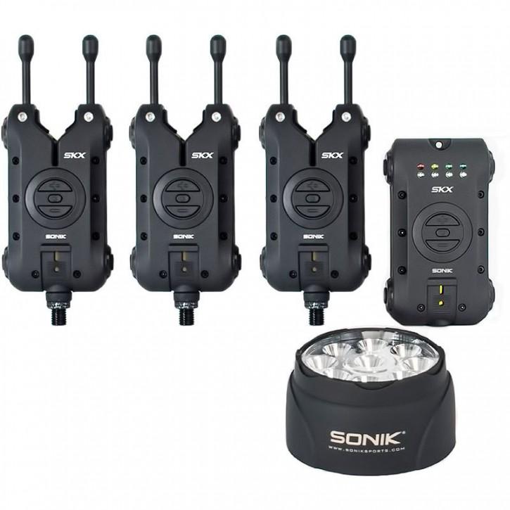 Sonik SKX 3+1 Alarm & Receiver Set + Bivvy Lamp