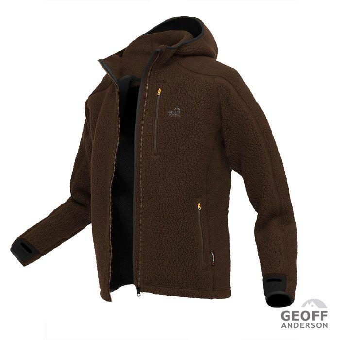 GEOFF ANDERSON Teddy Hoodie braun - L